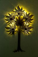 Gold leaf tree with led