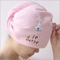 Cute Rabbit Microfiber Shower Caps Super Absorbant