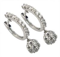 18k yellow or white gold jewellery diamond studded