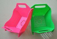 Chinese plastic folding vegetable /fruits dish size 15cm
