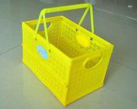 China plastic folding basket company wholesalers size H19CM
