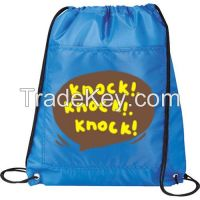 Promotional Cheap Polyester Drawstring Bag With Custom Logo