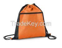 China Wholesale Waterproof Nylon Drawstring Bag With Front Pocket