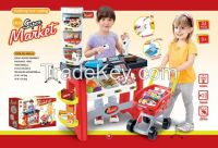 2015 new kids luxury supermarket play set toys