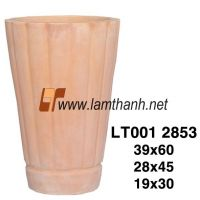 Stripe Wash Terracotta Vase