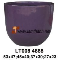 Glossy Colorful Decorative Plant Pot