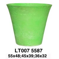 Fresh Color Cement Fiber Pot