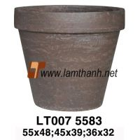 Solid Vietnam Pottery Fiber Pot