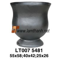 Shiny Cement Fice Solid Urn
