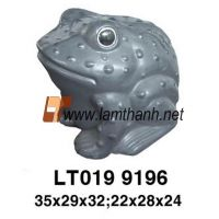 Frog Glazed Garden Ornament