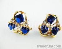 Flower Crystal Earrings