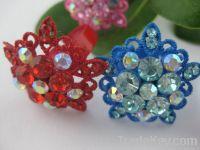 Five flower ring