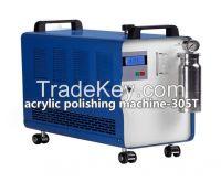 acrylic polishing machine two operators work at the same time using one machine