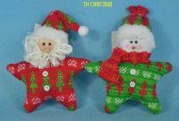 CHRISTMAS SANTA DEER SNOWMAN DEORNAMENT/TOY