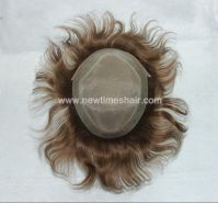 Stock Human Hair Men Toupee