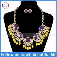China Wholesale Indian Jewelry Statement Necklace Big Fashion Jewelry