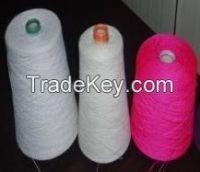 high quality 100% polyester yarn raw and color yarn
