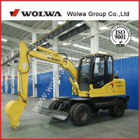 China famous brand wolwa excavator DLS865-9A wheeled excavator