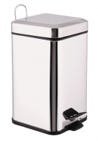5L stainless steel waste bins trash cans