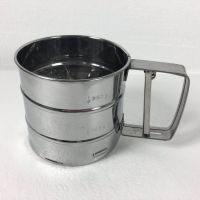 best selling professional stainless steel mesh sieve cup flour sifter with measuring scale