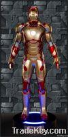 Iron Man Mk 42 Fiberglass Armor Life Size Statue