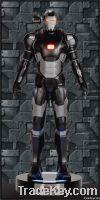 Iron Man War Machine Fiberglass Armor Life Size Statue