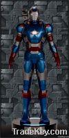 Iron Man Patriot Fiberglass Armor Life Size Statue