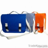 Bags with felt material