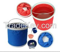 foldable nylon Oxford bucket for car wash or fishing