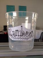 Customized cotton candy plastic buckets 2.2liter