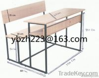 beech double seat scool dek with bench