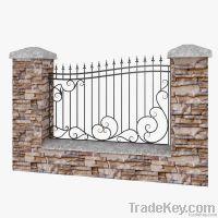 wrough iron fence