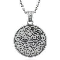 Fleur De Lis 925 Sterling Silver Pendant