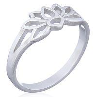 925 Sterling Silver Lotus Flower Ring