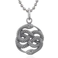 Oxidized 925 Sterling Silver Snake Pendant
