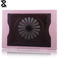 Girl favorite pink laptop cooling pad with one fan notebook stand