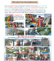 Fiberglass water and playing park Equipment