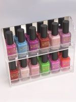 clear acrylic nail polish display rack