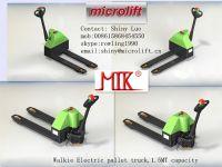 Walkie Electric Pallet Truck factory, Microlift or OEM brand, ET15 model, 1.5MT capacity, 540/685mm fork width