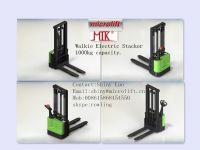 Walkie Electric Stacker factory, Microlift brand or OEM, 1000KG Capacity