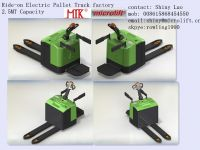 Ride-on Electric Pallet Truck factory, Microlift or OEM brand, ET25 Model, 2.5MT capacity,