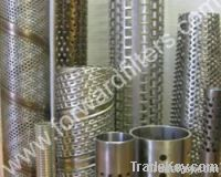 perforated stainless steel filter/spiral welded filter/wire mesh