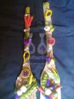 wall hanging wodden spoon with fruits and vegetables for kitchen decoration