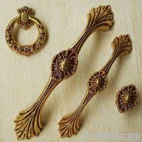 Golden antique copper European style door handle/drawer rural ambry