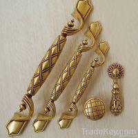 Golden luxury European style door handle