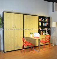 GT8002 wall bed with foldable desk or dining table/ hidden bed/ murphy bed/ library bed