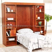 GS5001 wall bed with sliding bookcases/ hidden bed/ murphy bed/ library bed