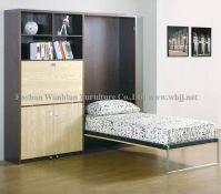 GS5003 wall bed set with desk/ hidden bed/ murphy bed/ library bed