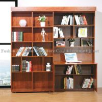 GS5012 wall bed with sliding bookcases and desk/ hidden bed/ murphy bed/ library bed/ melamine bed, MDF bed