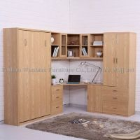 GE2002 wall bed set with desk/ hidden bed/ murphy bed/ library bed